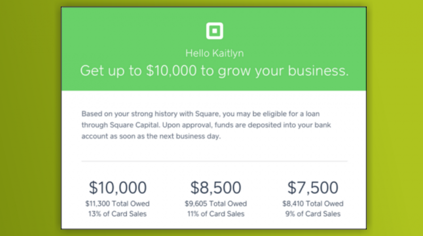 Square Capital Expands Into Flexible Financing, Stock Price